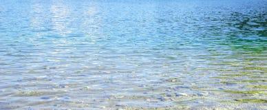 Textuur van blauw mountian meerwater stock foto