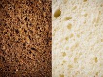 Textuur van bruin en wit brood Royalty-vrije Stock Fotografie