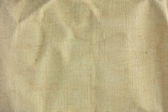 Textuur van bruin zakcanvas met gevoelig net aan gebruik als grunge hoge resolutietextuur als achtergrond Stock Foto's