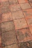 Textuur van bruine baksteen op gangmanier Royalty-vrije Stock Foto's