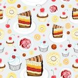 Textuur van cakes Stock Fotografie