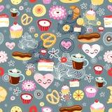 Textuur van cakes Royalty-vrije Stock Afbeeldingen