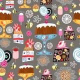 Textuur van cakes Royalty-vrije Stock Fotografie