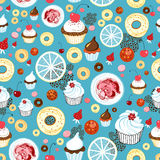 Textuur van cakes Stock Afbeelding