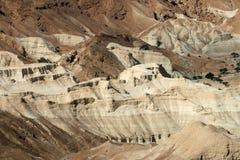 Textuur van de bijbelse woestijn dichtbij Dode Overzees Stock Afbeeldingen