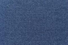 Textuur van de donkerblauwe kleur van de vachtstof Stock Foto's