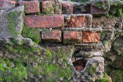 Textuur van de foto de Oude Bakstenen muur Royalty-vrije Stock Afbeeldingen