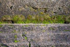 Textuur van de foto de Oude Bakstenen muur Stock Afbeelding