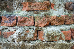 Textuur van de foto de Oude Bakstenen muur Stock Foto's