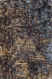 Textuur van de gebarsten vlakke oppervlakte van oud hout stock fotografie