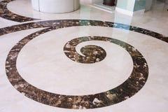 Textuur van de granietvloer met een abstract patroon Stock Fotografie
