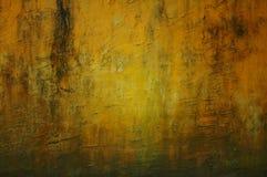 Textuur van de Grunge de gele muur Stock Foto's