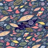 Textuur van de herfstbladeren Royalty-vrije Stock Afbeeldingen