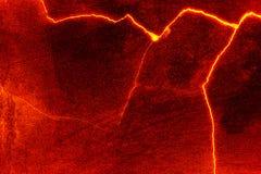 Textuur van de hitte de rode gebarsten grond royalty-vrije illustratie