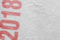 Textuur van de hockeyarena van het seizoen van 2018 Stock Fotografie