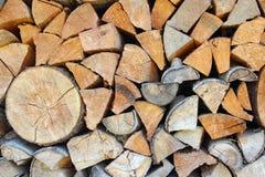 Textuur van de houten logboeken Stock Foto