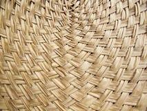 Textuur van de kromme van het bamboeweefsel Stock Foto's