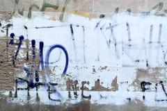 Textuur van de muur in de oude stad Stock Foto
