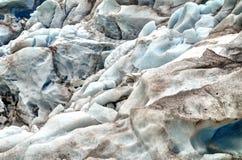 Textuur van de Nigardsbreen-gletsjer Royalty-vrije Stock Afbeeldingen