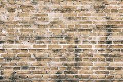 Textuur van de oranje oude structuur van de muurbaksteen stock foto's