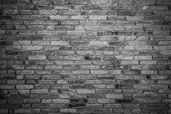 Textuur van de oude achtergrond van de grungebakstenen muur Zwart-witte pic Stock Afbeelding
