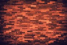 Textuur van de oude achtergrond van de grungebakstenen muur Vigneteffect Royalty-vrije Stock Foto