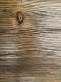 Textuur van de raad met een knoop Stock Afbeelding