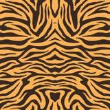 Textuur van de tijgerbont van Bengalen, oranje strepenpatroon Dierlijke huiddruk Safariachtergrond Vector stock illustratie