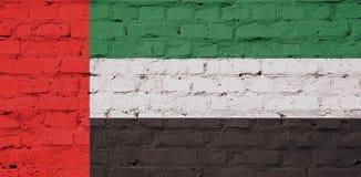 Textuur van de Verenigde Arabische vlag van Emiraten Stock Foto