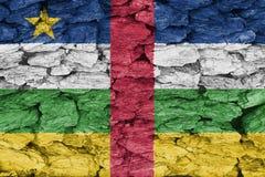 Textuur van de Vlag van de Centraalafrikaanse Republiek Stock Foto
