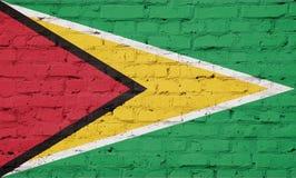 Textuur van de vlag van Guyana royalty-vrije illustratie