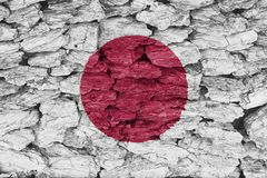 Textuur van de vlag van Japan Stock Foto's