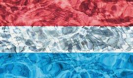 Textuur van de vlag van Luxemburg Royalty-vrije Stock Afbeelding