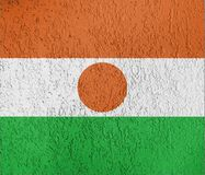 Textuur van de vlag van Niger Stock Fotografie