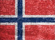 Textuur van de vlag van Noorwegen royalty-vrije illustratie