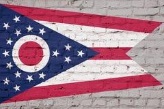 Textuur van de vlag van Ohio stock foto