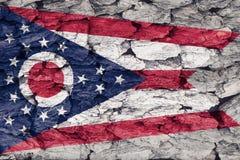 Textuur van de Vlag van Ohio stock illustratie