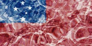 Textuur van de vlag van Samoa Royalty-vrije Stock Fotografie
