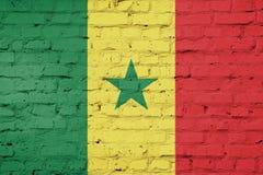 Textuur van de vlag van Senegal Royalty-vrije Stock Foto's