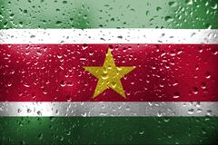 Textuur van de vlag van Suriname Stock Foto