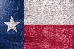 Textuur van de vlag van Texas Stock Afbeeldingen