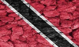 Textuur van de vlag van Trinidad en van Tobago Royalty-vrije Stock Foto's
