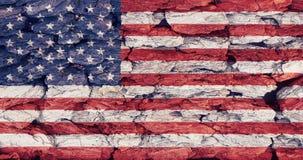 Textuur van de vlag van de V.S. Stock Fotografie
