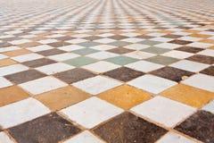 Textuur van de vloer in het Paleis van Gr Badi Stock Afbeeldingen