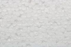 Textuur van de witte kleur van de storaxschuimbal, abstracte achtergrond Stock Fotografie