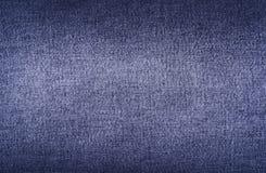 Textuur van denim de donkerblauwe jeans Stock Fotografie