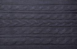 Textuur van donkerblauwe wolsweater Royalty-vrije Stock Foto