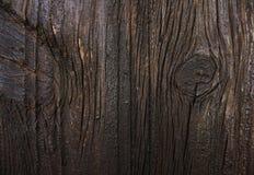 Textuur van donkere houten deur Royalty-vrije Stock Foto's