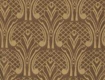 Textuur van donkere zijdestof met een overmaats geborduurd bloemenpatroon Royalty-vrije Stock Afbeeldingen