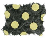 De geïsoleerder Textuur van het Rijstpapier - Groene Stippen  Royalty-vrije Stock Afbeelding